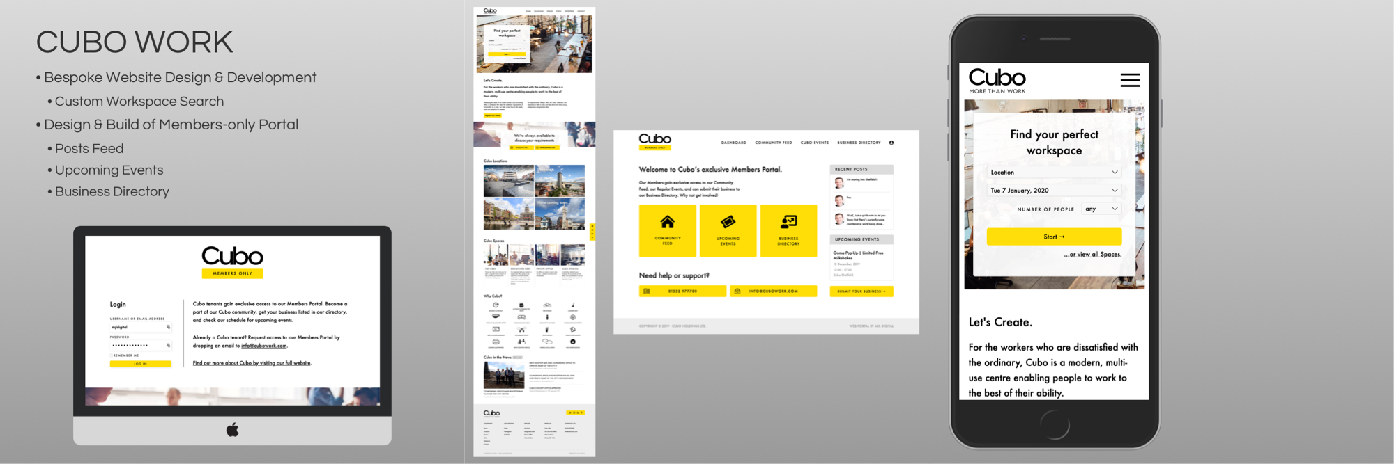 Photo of MJL Digital's work completed for Cubo Work